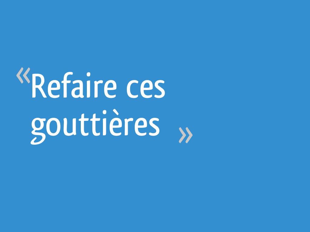 Refaire Ces Gouttières 58 Messages