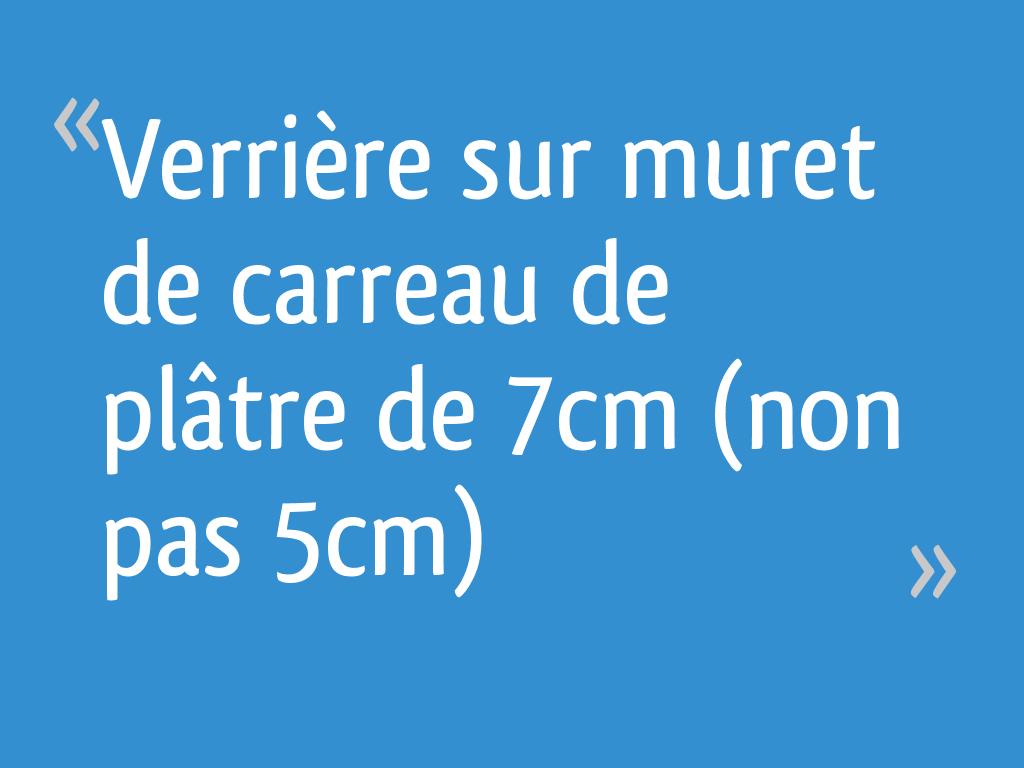 Verrière Sur Muret De Carreau De Plâtre De 7cm Non Pas 5cm