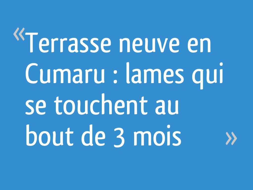 Terrasse Neuve En Cumaru Lames Qui Se Touchent Au Bout De