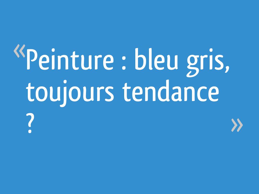 Peinture Bleu Gris Toujours Tendance 5 Messages