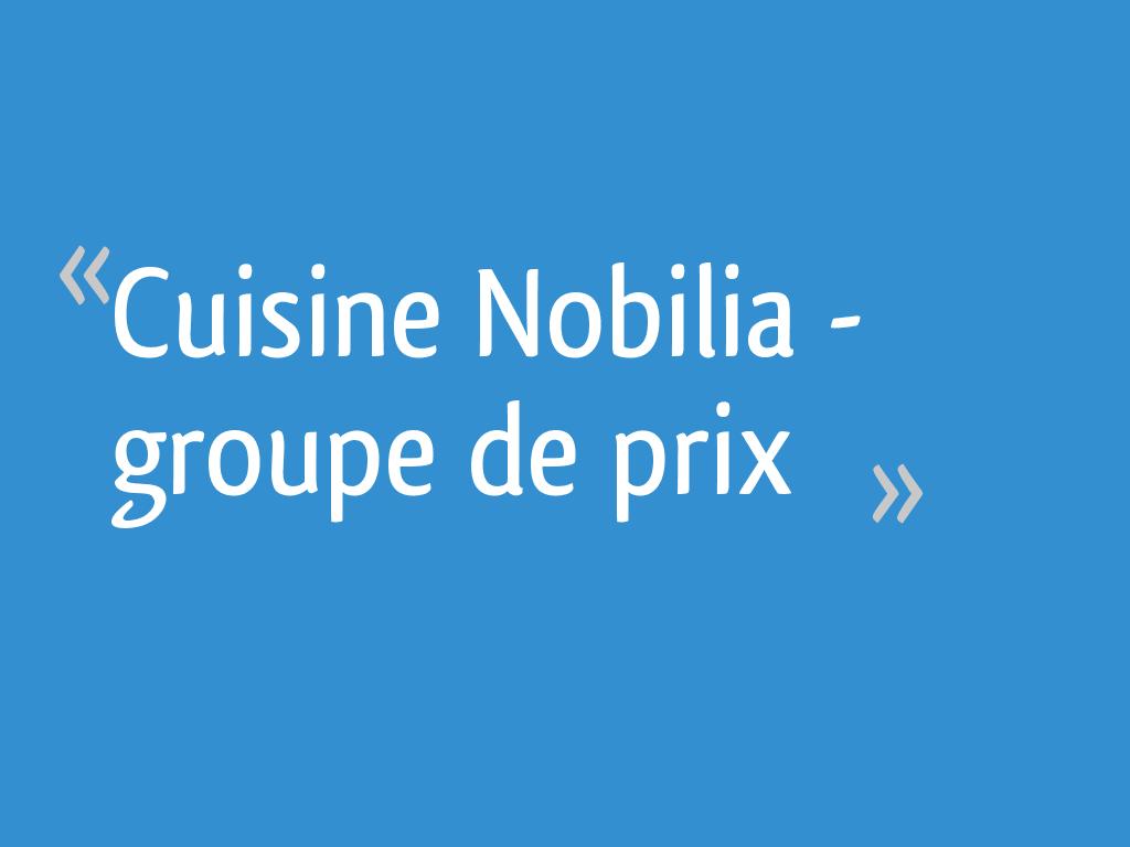 Cuisine Nobilia Groupe De Prix 15 Messages