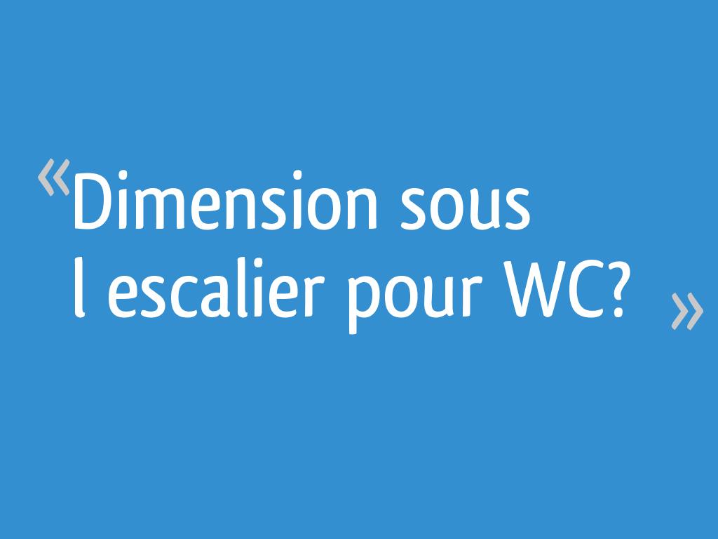Dimension Sous Lescalier Pour Wc Résolu 15 Messages