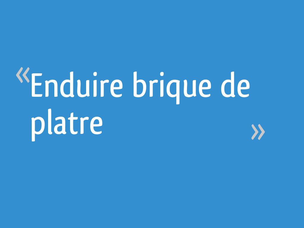 Vieujot Platre Et Chaux enduire brique de platre - 14 messages