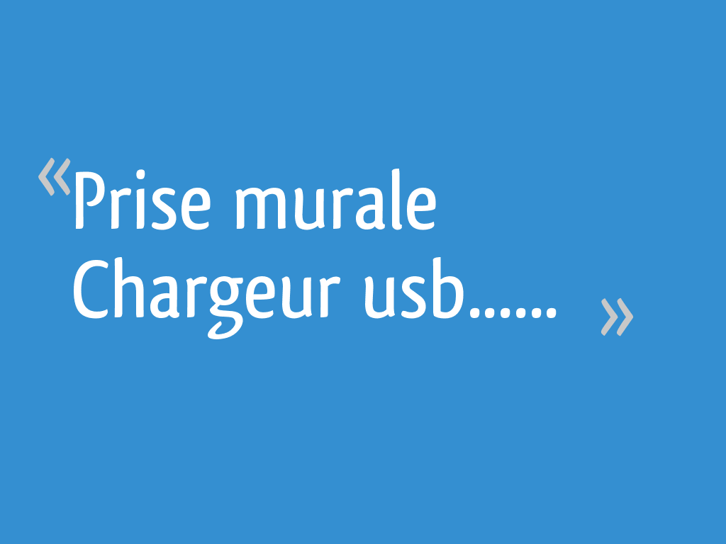 Prise Murale Chargeur Usb 18 Messages