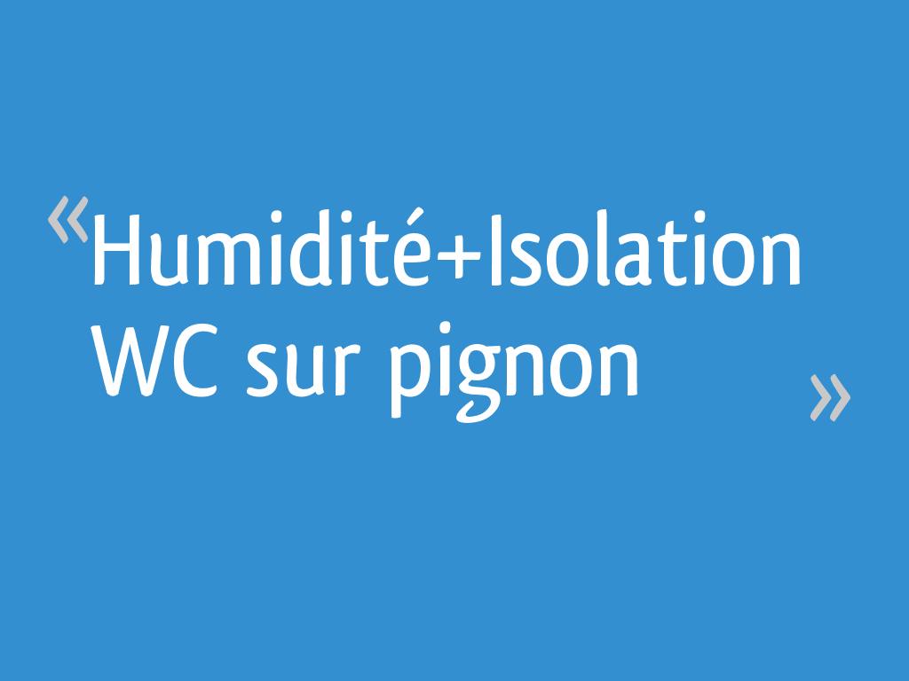 Humidité+Isolation WC sur pignon