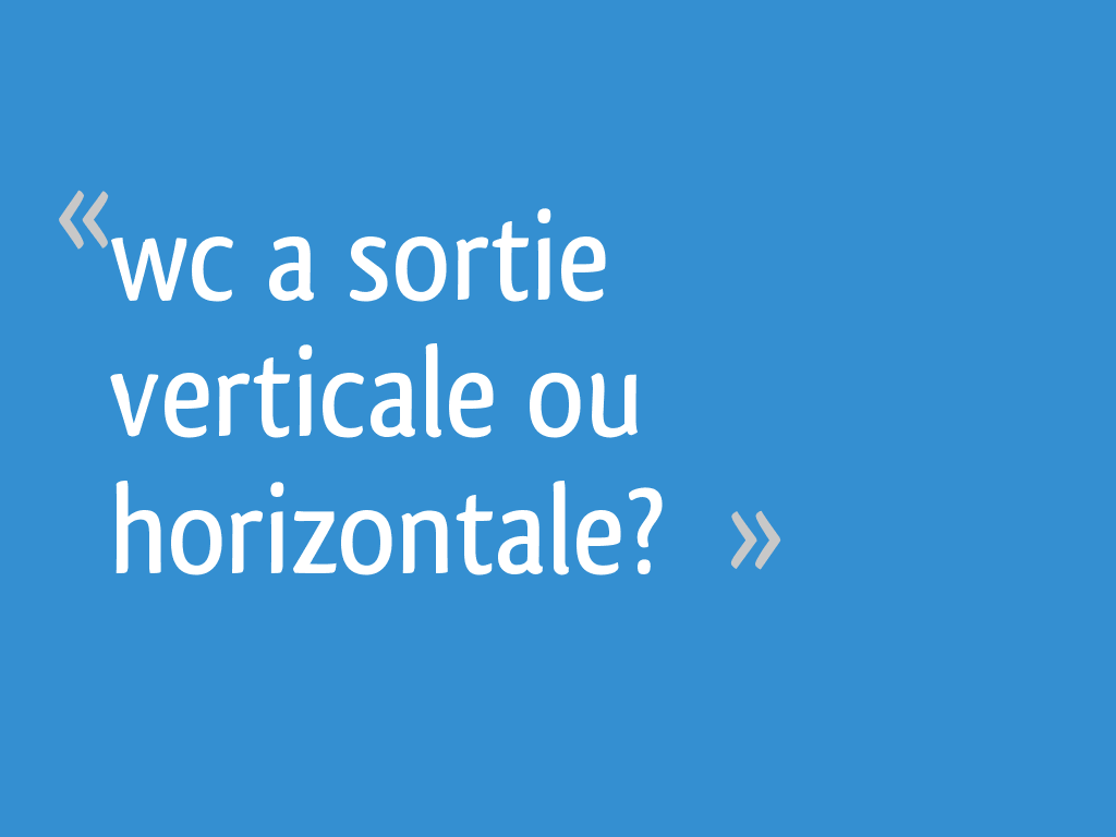 wc a sortie verticale ou horizontale 8 messages