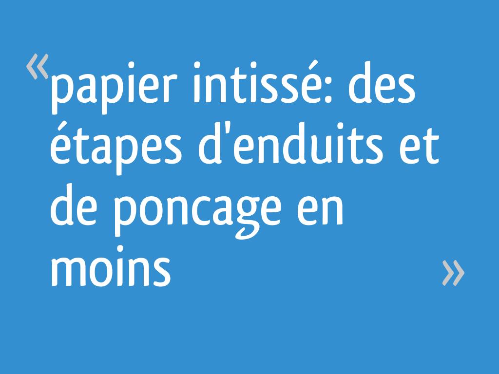 Papier A Peindre Epais papier intissé: des étapes d'enduits et de poncage en moins