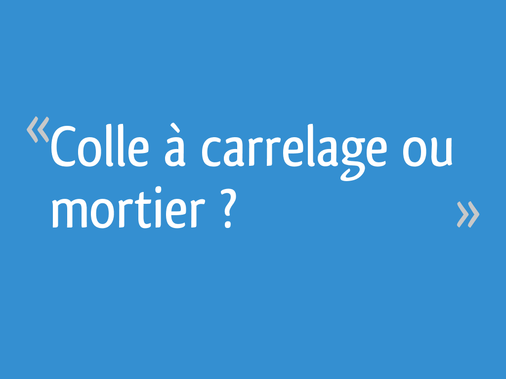 Colle A Carrelage Ou Mortier 19 Messages