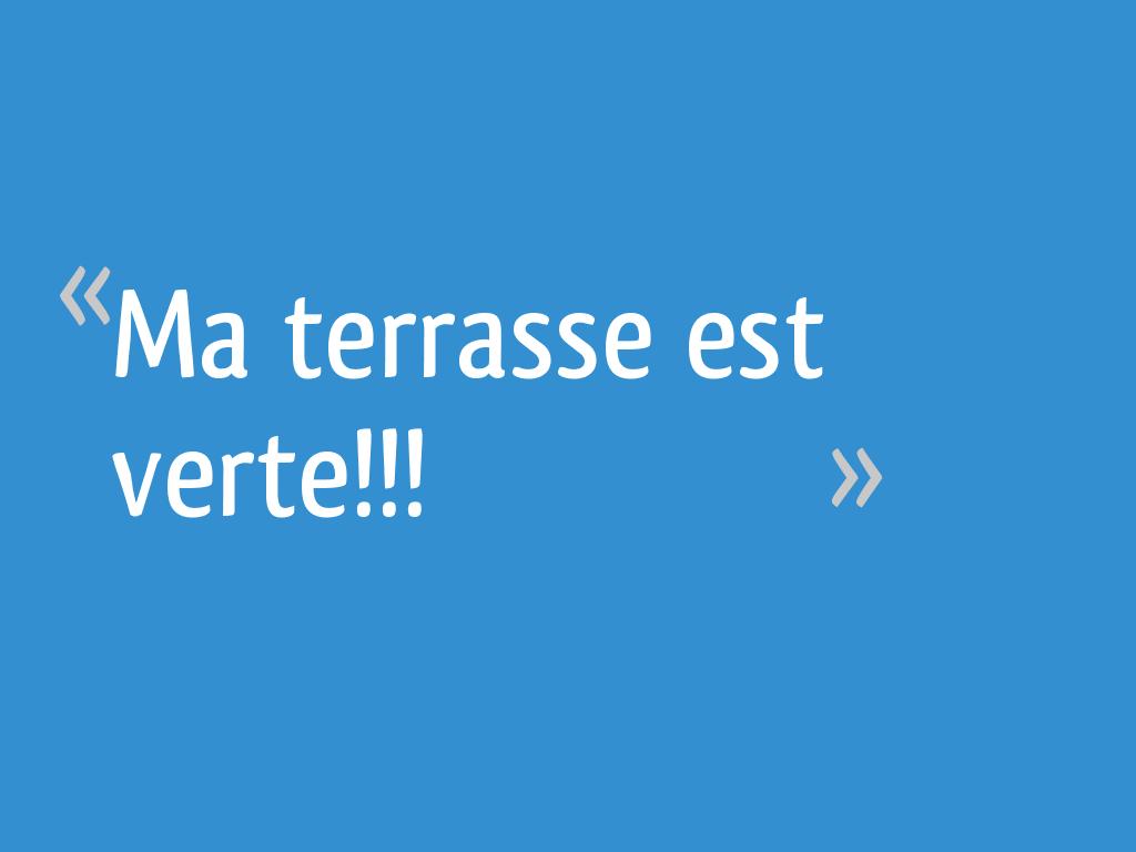 Anti Mousse Terrasse Beton ma terrasse est verte!!! - 6 messages