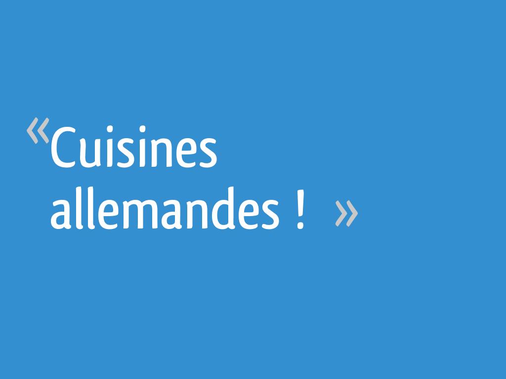 Cuisines allemandes 27 messages - Cuisines allemandes ...
