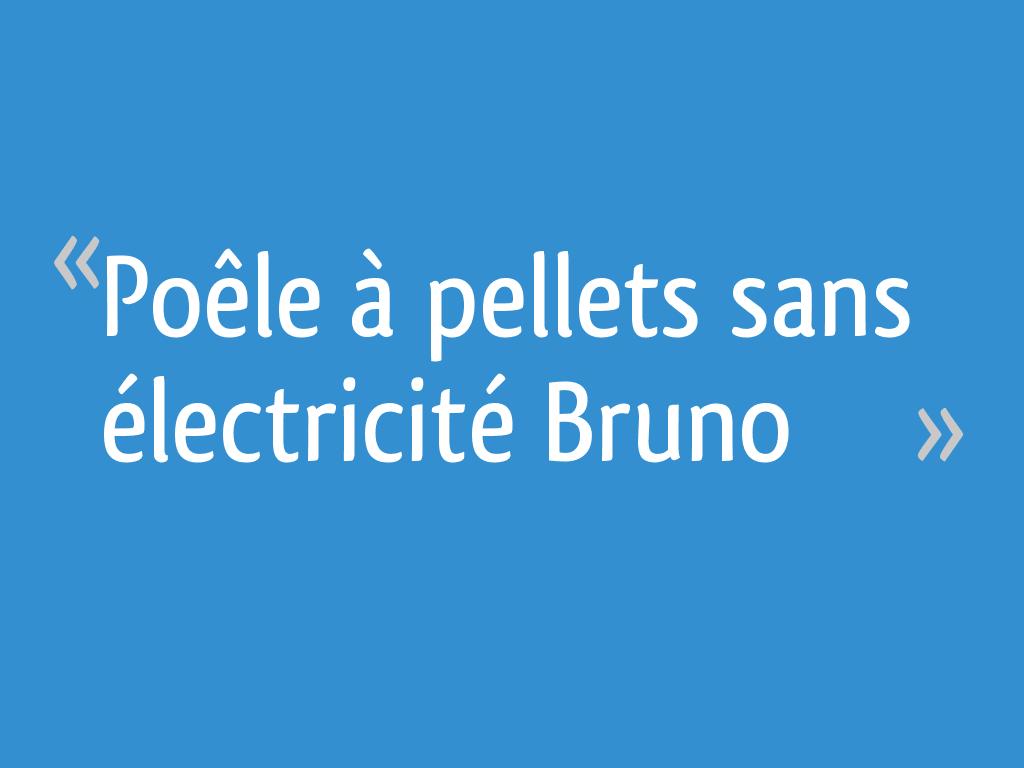 Poêle à Pellets Sans électricité Bruno 56 Messages